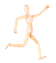 wooden Dummy sprinter running isolated