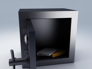 Office folder safe. security concept