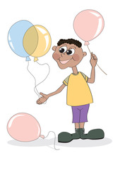 The boy with balloons