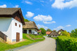 Road in a village with cottage houses, Burgenland, Austria