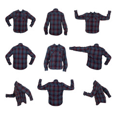 collage of men's shirts