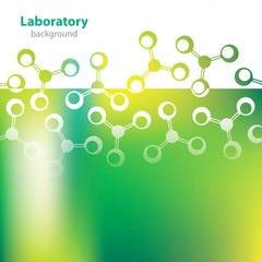 Abstract greenish medical laboratory background.