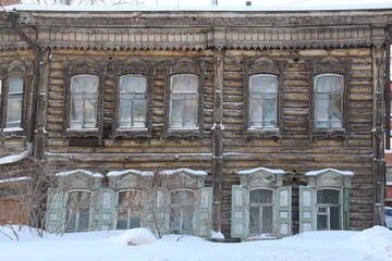 Example of historic architecture in Tomsk, Russia