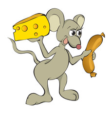 The complaisant mouse with food