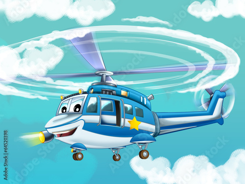 Cartoon helicopter - illustration for the children - 64520398