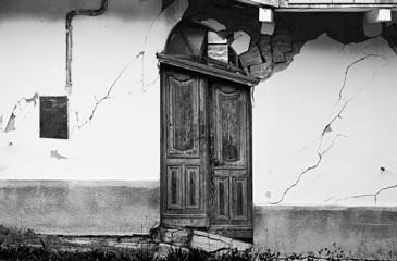 d Door Caused by a Landslide. Piedmont, Italy.