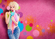 ladybabe 11-funny girl with lollipops