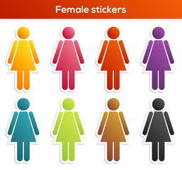 Female stickers collection