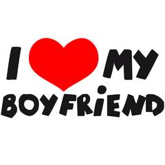 I Love my Boyfriend Comic Toon