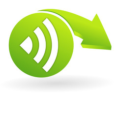 réseau sur web symbole vert