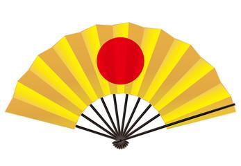 日の丸の飾り扇