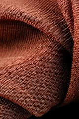 Brown Synthetic Fabric Texture Close-Up