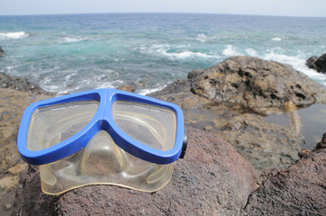 Diving Mask near the Beach