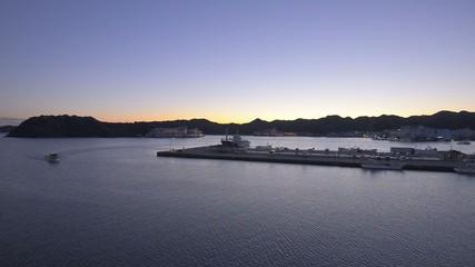 Sunset landscape in Katsuura Port,Mie,Japan