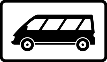 icon with black mini bus