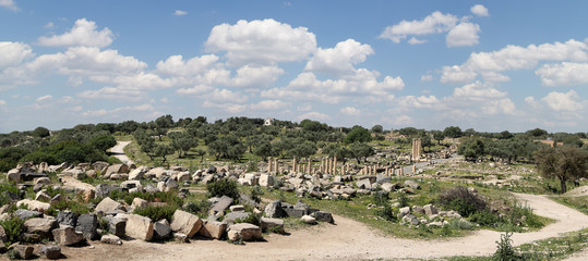 Roman ruins at Umm Qais (Umm Qays), Jordan