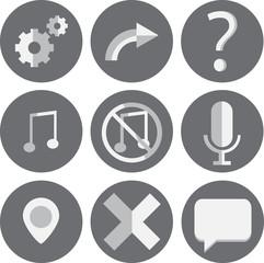 9 Web Icons Set