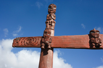 New Zealand maori traditional carving