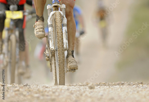 Poster Fietsen mountain bike desert adventure