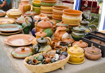 handmade ceramic clay ware souvenirs street market
