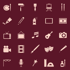 Art color icons on red background