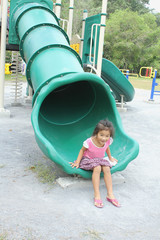 Girl Enjoy Playground