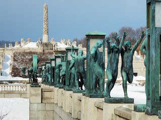 Sculpture at Vigeland Park in Oslo, Norway