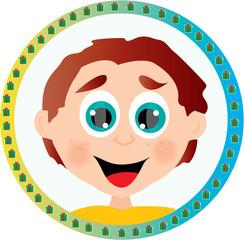 chłopiec,znaczek,button