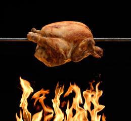 Pollo en brasas,parrillada.pollo al horno.