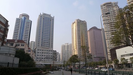 Straßenzug in Shanghai