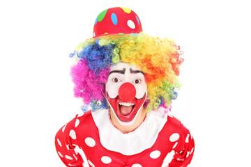 Funny male clown