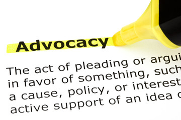 Advocacy highlighted in yellow