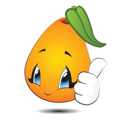 Little Yellow Kawaii Pear