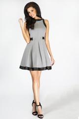 Sensual brunette woman in dress