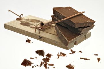 Mausefalle und Schokolade