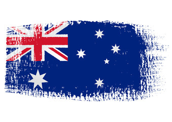 brushstroke flag Australia with transparent background