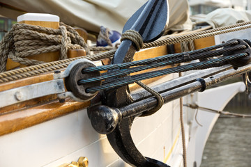 Details vom Traditionssegelboot