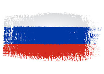 brushstroke flag Russia with transparent background