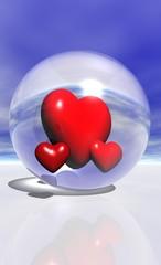 coeurs en bulle