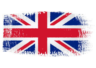 brushstroke flag United Kingdom with transparent background