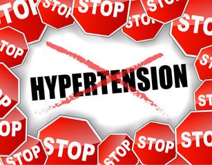 Stop hypertension concept