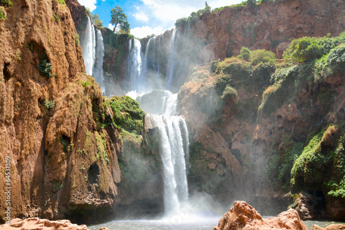 Canvas Watervallen cascades d'ouzoud