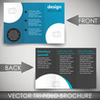Business three fold flyer template, cover design, brochure