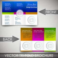 Business three fold flyer template, brochure, cover design