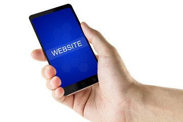 website word on digital smart phone