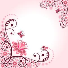 Spring pink frame