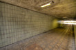 Leinwanddruck Bild - U Bahn Tunnel