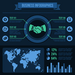 Business Infographics Elements.