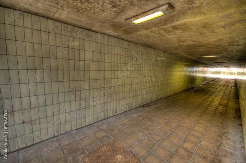 Leinwanddruck Bild U Bahn Tunnel