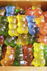 Homemade Gummy bears shaped